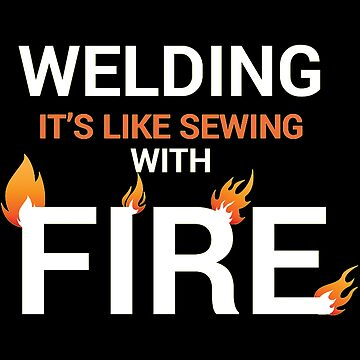 Welding sewing with fire white by Vroomie