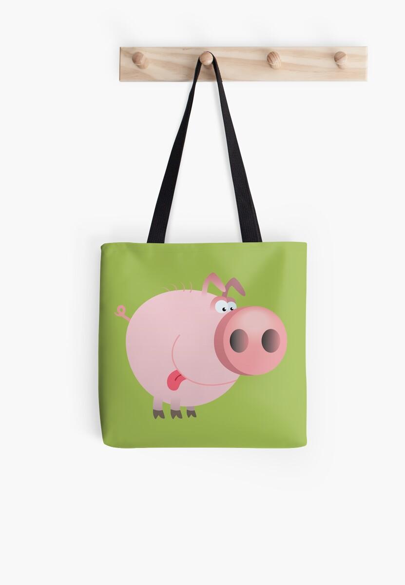Funny joking pig  by Olga Chetverikova