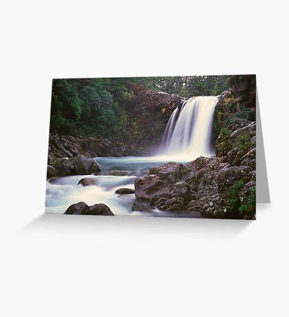 Tawhai Falls, Tongariro National Park Greeting Card