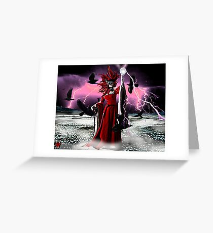 Lightning Queen Greeting Card