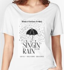 Singin' in the Rain Movie Poster Women's Relaxed Fit T-Shirt