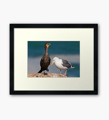 """It Really Hurts!"" Framed Print"