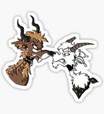 Locking horns Sticker