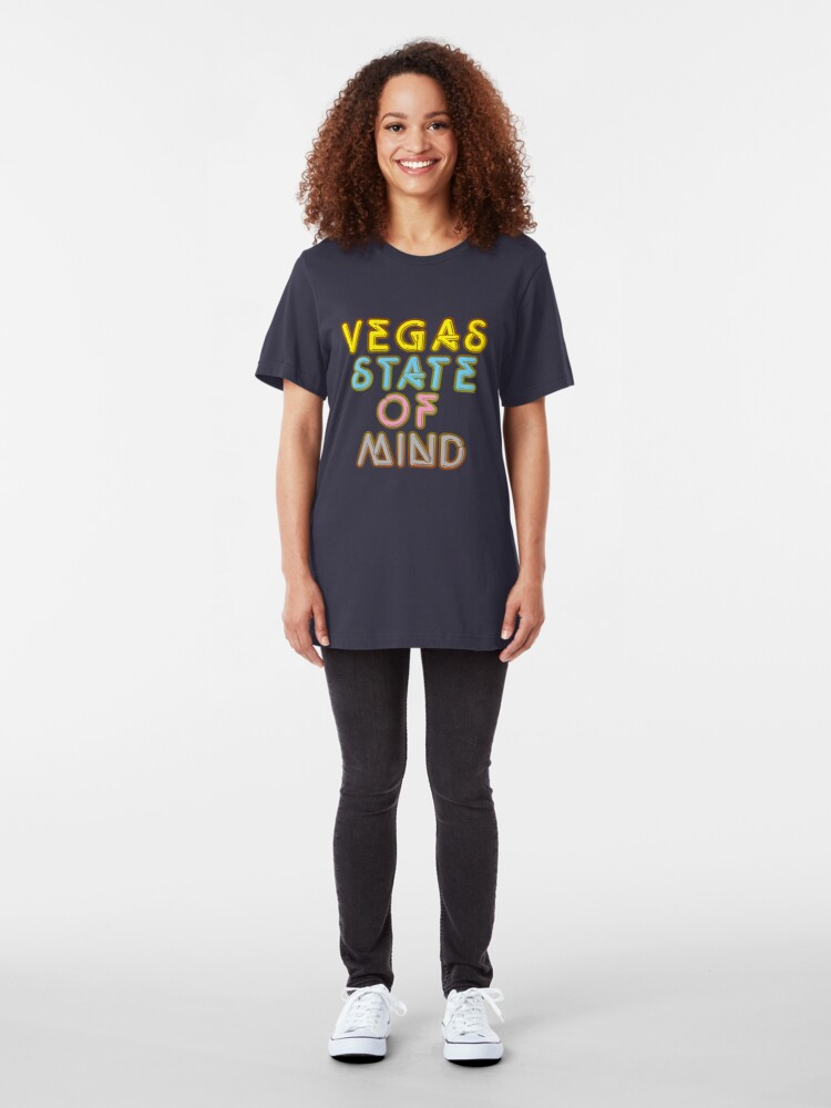 Alternate view of Vegas State of Mind Vacation T-shirt Slim Fit T-Shirt