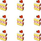 Strawberry Cake Slice Kiss-cut Bullet Journal Planner Sticker Sheet by commonobjects