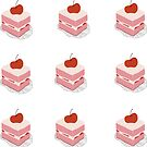 Cherry Cake Kiss-cut Bullet Journal Planner Sticker Sheet by commonobjects