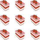 Strawberry Cake Kiss-cut Bullet Journal Planner Sticker Sheet by commonobjects