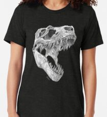 Camiseta de tejido mixto T-rex skull