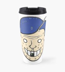 Broken Sweet Tooth Cartoon Character Head Travel Mug