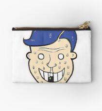 Broken Sweet Tooth Cartoon Character Head Zipper Pouch