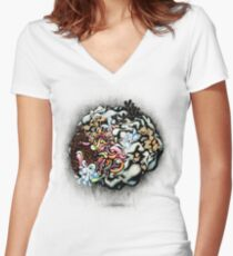 Isolating the Collective Unconscious Women's Fitted V-Neck T-Shirt