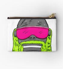 80s Neon Wrestler Cartoon Head Hulk Macho Zipper Pouch