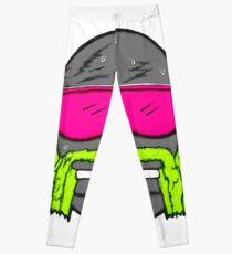 80s Neon Wrestler Cartoon Head Hulk Macho Leggings