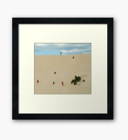 Dune Scramble,Robe South Australia Framed Print