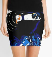 Hacker Sci-Fi Cyberpunk Illustration Off_Grid  Mini Skirt