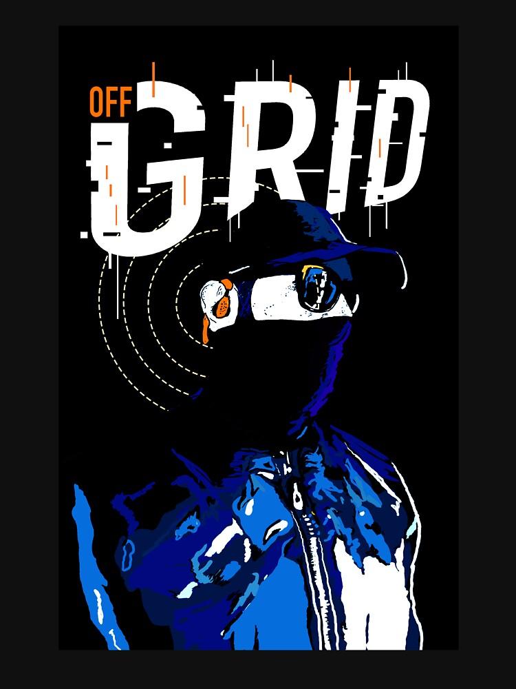 Hacker Sci-Fi Cyberpunk Illustration Off_Grid  by JustNukeIt