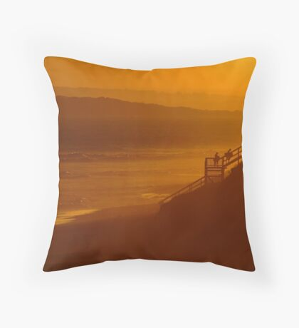 Thirteen Beach, End Of Day Throw Pillow