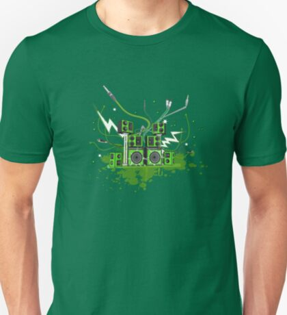 Green Speaker System T-Shirt