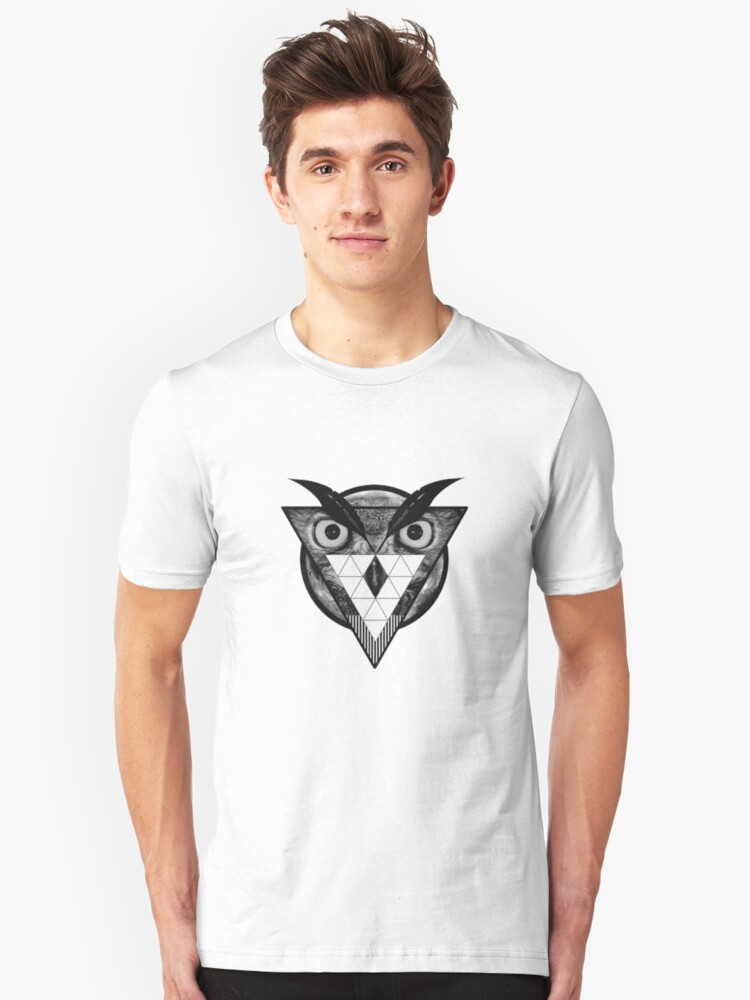 Triangle Owl Unisex T-Shirt Front