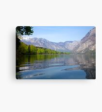 Rippled reflections of an Alpine lake Canvas Print