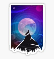 Hungry like a wolf. Or the moon, or a mountain. Sticker