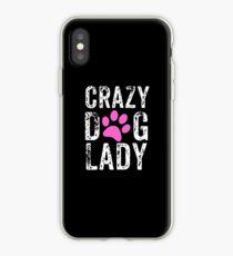 Verrückte Hundedame Pink Paw, Hundemutter, verrückte Hundemutter iPhone-Hülle & Cover