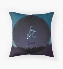 Leo Zodiac Sign Character Traits Throw Pillow
