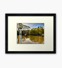 The Duckpond in the village of Crawley, near Winchester Framed Print