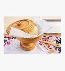 Pita Dough Rising Photographic Print