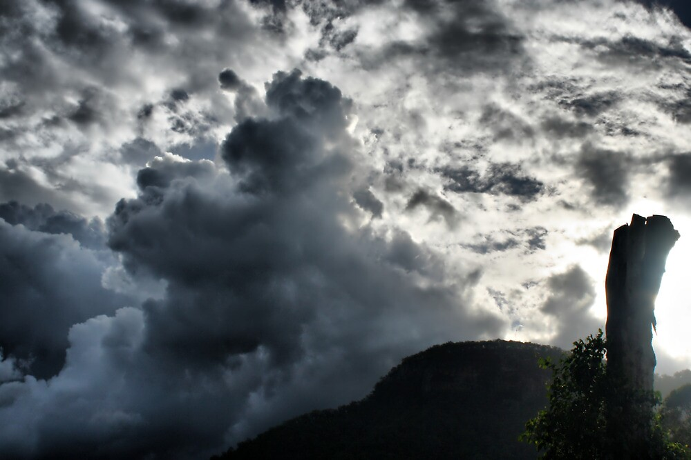 Dark Clouds over Crown Mountain by Woomera