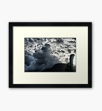 Dark Clouds over Crown Mountain Framed Print