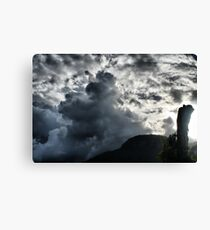 Dark Clouds over Crown Mountain Canvas Print