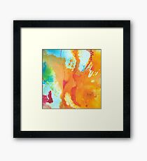 Play Affirmation - Bright abstract Painting Framed Print