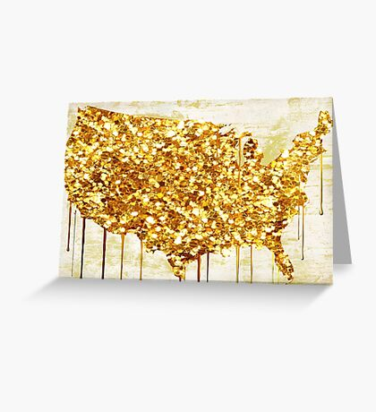 American Dream Glitter Greeting Card