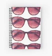 Big Sunglasses in Watercolor - Trendy/Summer/Hipster Style Spiral Notebook