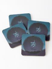 Virgo Zodiac Sign Character Traits Coasters