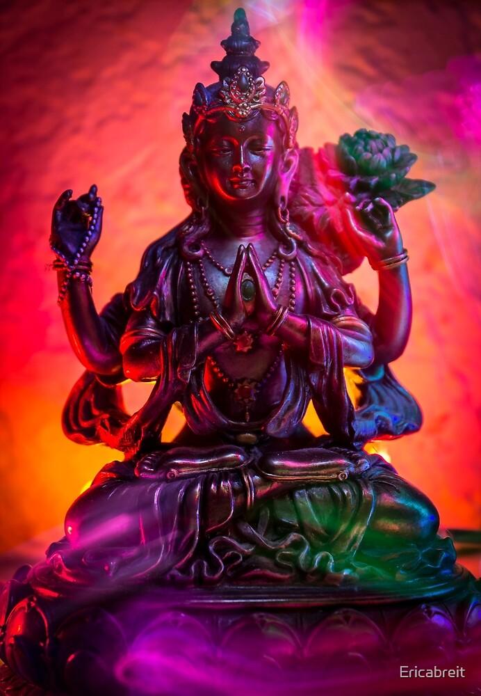 Neon Goddess Kwan-Yin by Ericabreit