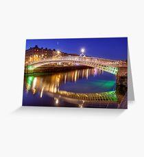 Ha'penny bridge, Dublin Greeting Card