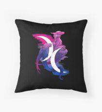 Bi Pride Dragon Throw Pillow