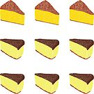 Yellow Cheesecake with Chocolate Frosting Kiss-cut Bullet Journal Planner Sticker Sheet by commonobjects