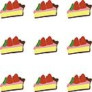Kiwi Strawberry Cheesecake Kiss-cut Bullet Journal Planner Sticker Sheet by commonobjects