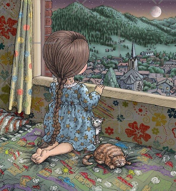 «buenas noches luna, buenas noches estrellas, buenas noches venus, buenas noches Marte» de vian