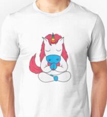 Einhorn Yoga Lustig Unisex T-Shirt