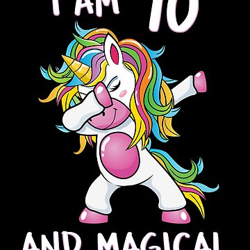 I Am 70 & Magical Unicorn Birthday Seventy Years Old Unicorn B Day  Dab Dance Squad Gift For Grandma Rainbow Myth Mythical fantasy Cartoon by bulletfast