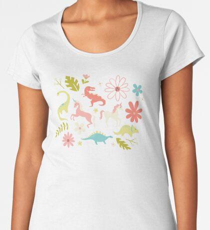 Dinosaurs + Unicorns Women's Premium T-Shirt