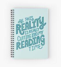 Cuaderno de espiral Realidad Vs. Libro de lectura Nerd cita letras