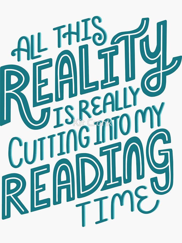 Realidad Vs. Libro de lectura Nerd cita letras de rubyandpearl