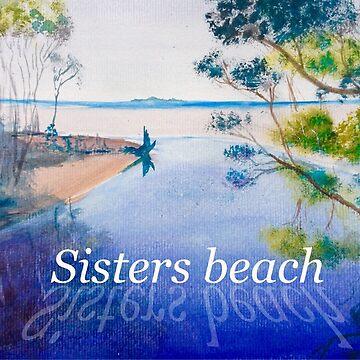 Sisters beach from the bridge by Ian Shiel  by Ruckrova