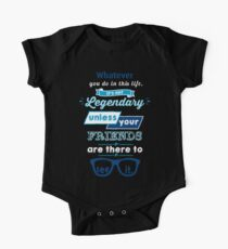 Legendary - Barney Stinson Quote (Blue) One Piece - Short Sleeve