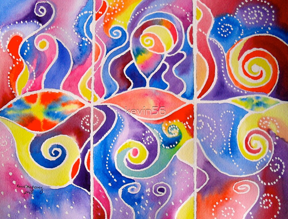 TRIPTYCH UNIVERSE (with poem) by Kevin McGeeney